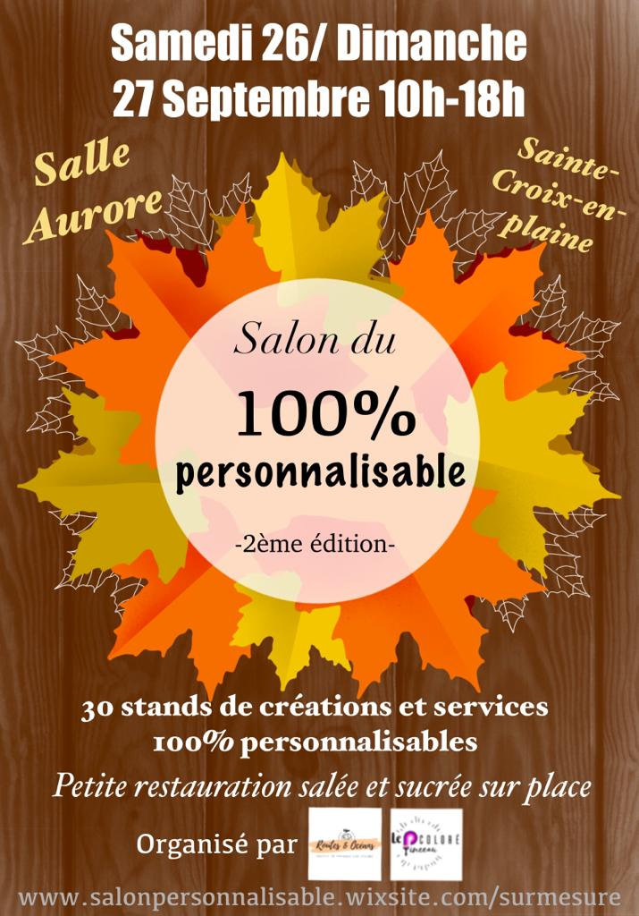 affiche pour annoncer le salon 100% personnalisable