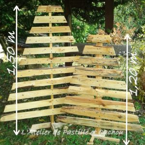 Sapins en bois de palette